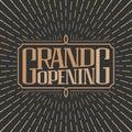 Grand opening vector banner, illustration, flyer, poster