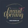 Grand opening vector illustration, banner for new store, shopping center