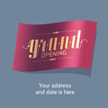 Grand opening vector illustration, banner for new store, shopping center Royalty Free Stock Photo