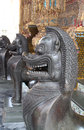 Grand palace bangkok thailand the bronze statues at Royalty Free Stock Image