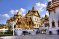 Grand palace bangkok thailand a section of buildings at the in Royalty Free Stock Images