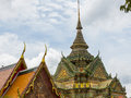 Grand palace bangkok thailand some of the beautiful roof architecture of the in Royalty Free Stock Image