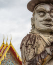 Grand palace bangkok thailand a statue at the famous landmark the in Stock Image
