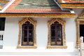 Grand palace bangkok thailand windows at in landmark and residence of the thai king Royalty Free Stock Photo