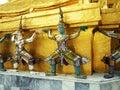 Grand palace demon bangkok in thailand Stock Photo