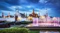 The Grand Palace & The Emerald Buddha Temple, Bangkok, Thailand. Royalty Free Stock Photo