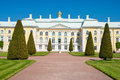 Grand palace in peterhof, russia Stock Image