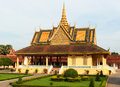 Grand palace phnom penh cambodia during a sunny day Stock Photography
