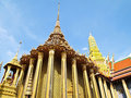 The Grand Palace temple in bangkok of thailand Royalty Free Stock Photo