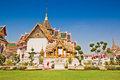 Grand palace at wat phra kaew si rattana satsadaram or in bangkok of thailand Royalty Free Stock Photos
