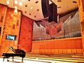 Grand piano at bucharest radio hall concert before hiromi concerto Stock Photo