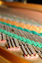 Grand piano detail photo work Stock Photography