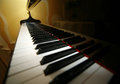 Grand piano ebony and ivory keys Stock Images