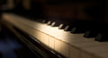 Grand piano keyboard. Royalty Free Stock Photo