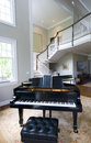Grand piano living room Stock Photography