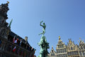 Grand place in antwerp the famous with the statue of brabo Stock Photo