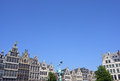 Grand place in antwerp the famous with the statue of brabo Stock Photography