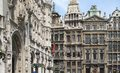 Grand place in brussels architectural scenery around the belgium Stock Images