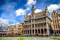 """Grand place bruxelles belgium august tourists in maison du roi one of europe finest historic squares and a """"must see"""" sight of Stock Photos"""