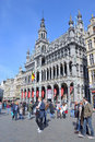 Grand place i brussels Royaltyfria Foton