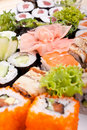 Grand positionnement de sushi Images libres de droits