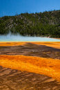 Grand prismatic hot springs mud flats in yellowstone national park wyoming Stock Images