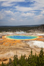 Grand prismatic spring in midway geyser basin yellowstone national park wyoming Stock Photography
