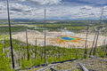 Grand Prismatic Spring from Picture Hill Royalty Free Stock Photo