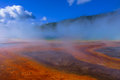 Grand prismatic spring of yellow stone national park Stock Photography