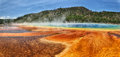 Grand prismatic spring in yellowstone national park usa Royalty Free Stock Image