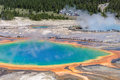 Grand prismatic spring in yellowstone wyoming colorful of usa Stock Photography