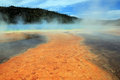Grand prismatic spring yellowstone wyoming usa Royalty Free Stock Photos