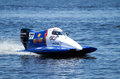 Grand prix formula h o world championship vyshgorod ukraine july powerboat number gc team f fast speed pilot matt paljreyman Stock Photo