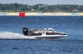 Grand prix formula h o world championship vyshgorod ukraine july powerboat number mad croc team f fast speed l powerboat on july Royalty Free Stock Images