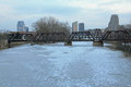 Grand Rapids Michigan Skyline in the Winter Royalty Free Stock Photo