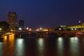 Grand Rapids at Night Royalty Free Stock Photo