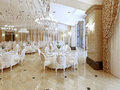 Grand restaurant and a ballroom in a luxury hotel. Royalty Free Stock Photo
