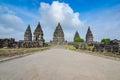 Grand road to Buddhist temple Borobudur Royalty Free Stock Photo