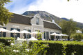 Grand roche paarl entrance and terrace of the hotel Stock Photo