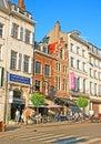 Grand sablon square brussels belgium june place du boasts numerous antique stores fashionable boutiques hotels restaurants an Stock Image