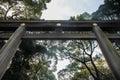 Grand Shrine Gate at Meiji Jingu Temple, Tokyo Royalty Free Stock Photo