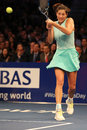 Grand Slam champion Garbine Muguruza of Spain in action during BNP Paribas Showdown 10th Anniversary tennis event