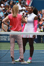 Grand Slam champion Serena Williams of United States during court interview after her round three match at US Open 2016