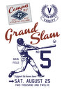 Grand slam sport clip art for active and fashion print Stock Photos