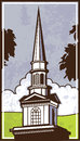 Grand steeple vector art of a from a church Royalty Free Stock Images