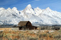 Grand Teton iconic barn Royalty Free Stock Image