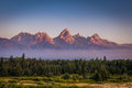 Grand Teton Mountains Royalty Free Stock Photo
