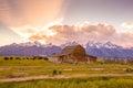 Grand Teton Mountains, Wyoming. Royalty Free Stock Photo