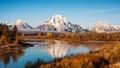 Grand Teton Oxbow Bend Royalty Free Stock Photo