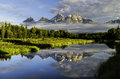 The Grand Tetons Mountains in Wyoming Royalty Free Stock Photo